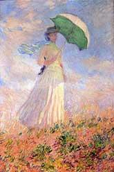 Monet - Lady with a parasol Şemsiyeli kadın 1886