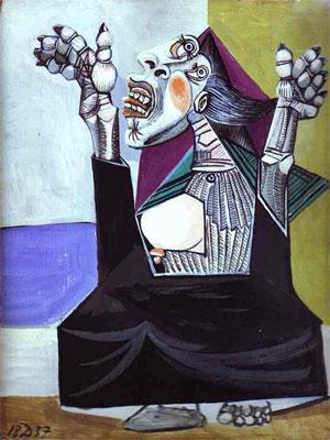 Pablo Picasso La Suppliante. 1937 Yakarış - Ağlayan kadın