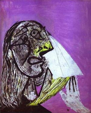 Pablo Picasso A Woman in Tears - Ağlayan bir kadın 1937