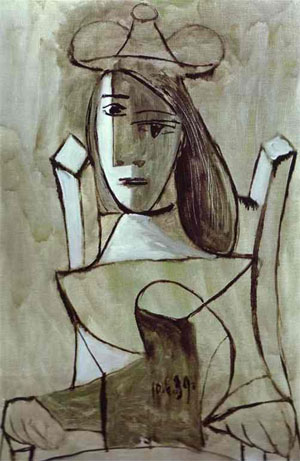 Pablo Picasso Young Girl Struck by Sadness - Hüzünlü kız 1939