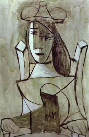 Pablo Picasso Young Girl Struck by Sadness - Hüzünlü kız 1939