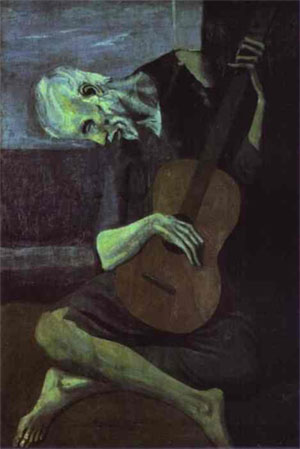 Pablo Picasso -The Old Guitarist İhtiyar gitarist 1903