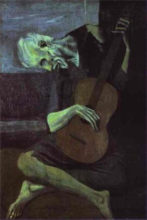 Pablo Picasso -The Old Guitarist İhtiyar gitarist 1903