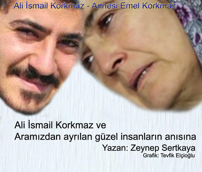 ali ismail korkmaz ve aramızdan ayrılan güzel inzanların anısına annesi emel korkmaz Yazan Zeynep sertkaya grafik tevfik elçioğlu